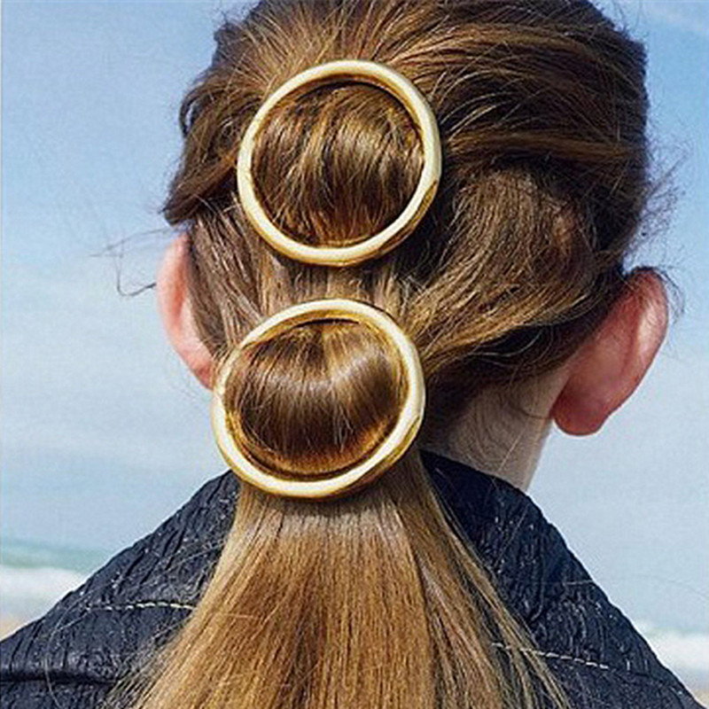 TS1009 Gold Color Barrettes Hairpin Hair Clip Fashion Jewelry Head Accesories Women Decorations for Hair 2016 NEW(China (Mainland))