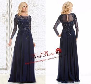 Морской синий мать невесты платье для свадьбы длинная рукава Жилетido де madrinha