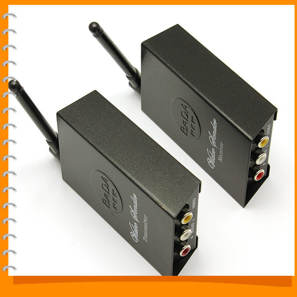 Wireless 2.4GHz 4 channel TV Audio Video AV Transmitter Sender and Receiver With 50M Transmission Range, Free Shipping(China (Mainland))