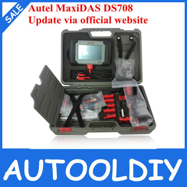 Top 2015 Free Shipping Professional Hot Sale 100% Original+Multi-Languages+Free Update via Internet Autel MaxiDAS DS708 Scanner(China (Mainland))