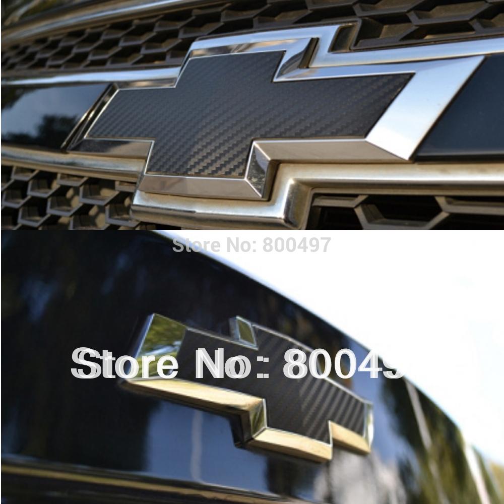 2 x Carbon Fiber Vinyl Sticker Front & Rear Sticker for Chevrolet/ Holden Cruze Malibu(China (Mainland))