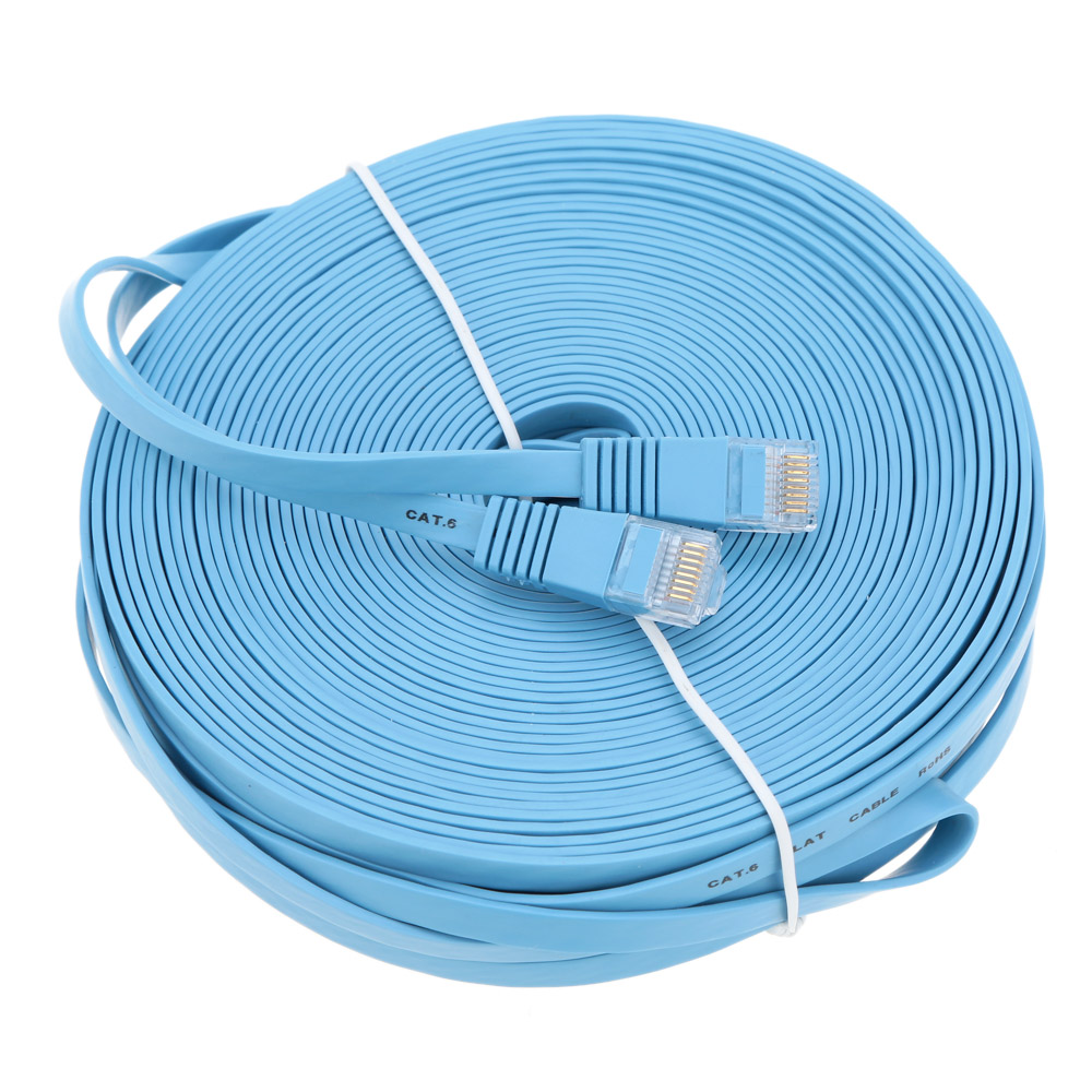 10 Sizes Network Cable Ethernet Cable Ultra Thin High Speed Flat Cable Internet Network Cord Data Transfer for PC Router Printer(China (Mainland))