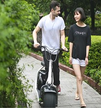 BOYAN 2016 800W Two Wheels Electric Car with Disk Brake Harley Style E Scooter(China (Mainland))