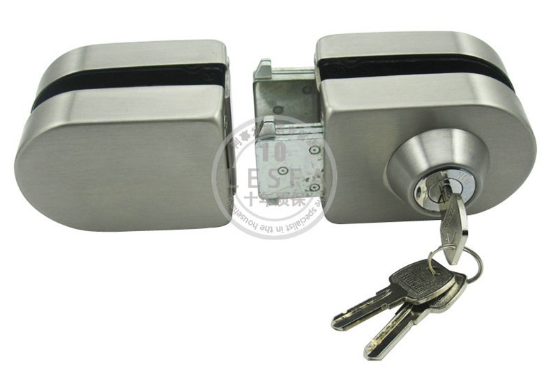 High Quality Qrignal Best Selling 304 Stainless Steel Glass Door Lock With Keys ----Factory Direct Price(China (Mainland))