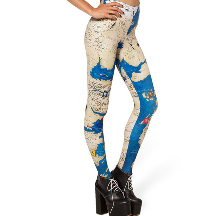 2015 world map color printing leggings Map of Europe and the former single foot nine minutes of leggings women wholesale(China (Mainland))