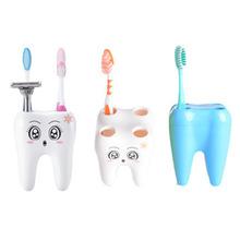 Cartoon Cute 4 Hole New Teeth Style Toothbrush Holder Stand Brush Rack Tooth Brush Shelf Shaving Razor Holder Bathroom Home(China (Mainland))