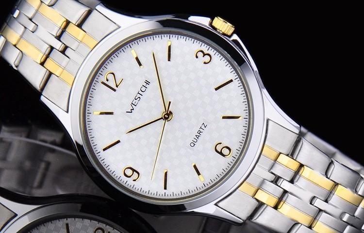 Горячая продажа человека часы лучший бренд класса люкс из нержавеющей стали, мужчина случайно watersproof кварцевые часы мужчины бизнес часы