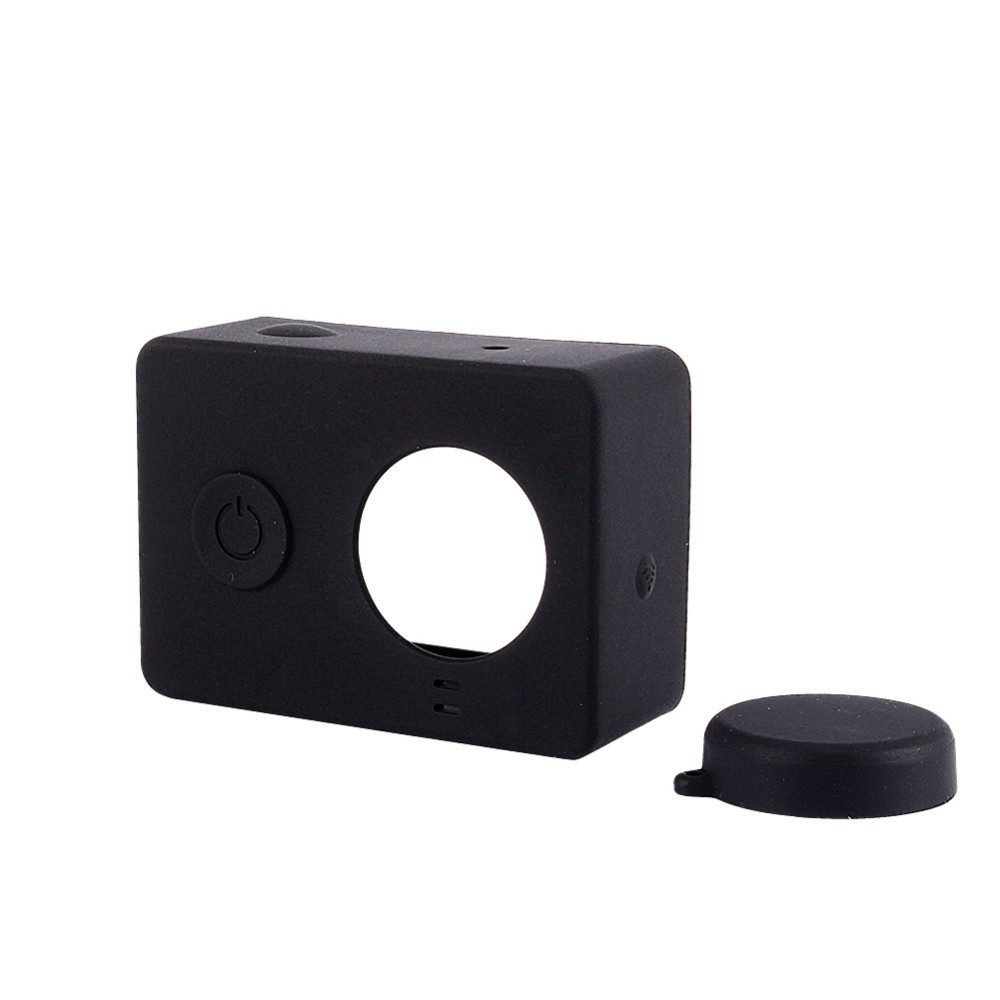 For Xiaomi Yi Accessories For Xiaomi Yi Colorful Camera Case Silicone Rubber Skin Housing With Protective Lens Cover Cap