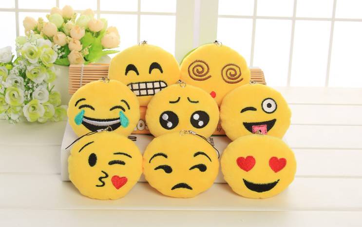 BIG Promotion 8Designs- Emojis 6CM Stuffed Plush TOY DOLL , Kawaii Kid's Gift Plush Decor Toy , Wedding Bouquet Plush Toy DOLL(China (Mainland))