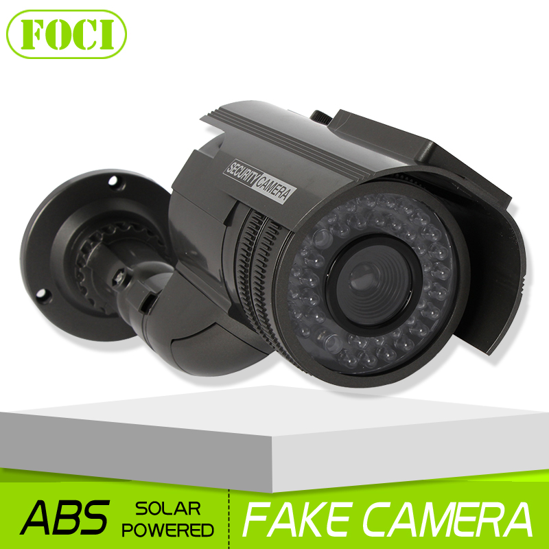Solar energy Power Fake Camera Realistic Dummy Decoy Security Camera Surveillance Simulated Fake CCTV Cam with Blinking LED(China (Mainland))