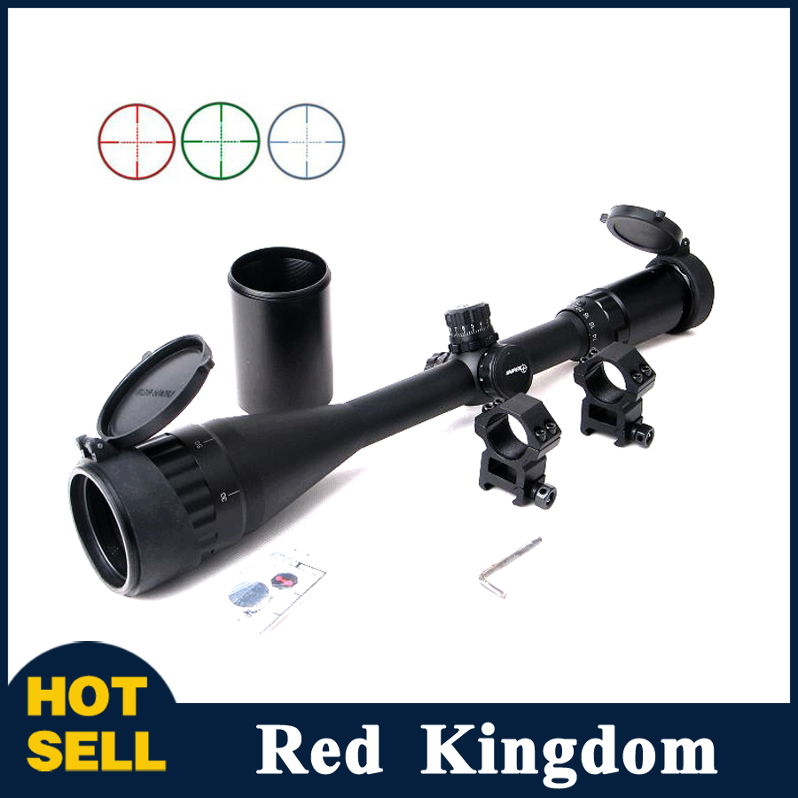 Фотография Hunting Rifle Scope 6-24x50 Red/Green/Blue Mil-dot Illuminated Sight Scope For Air Rifle Hunting With 20mm Rail Mount
