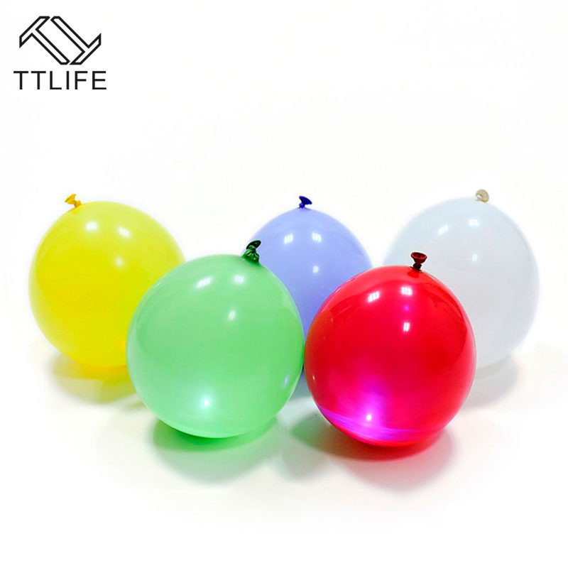 TTLIFE 15 pcs Led Flash Balloons Illuminated LED Balloon Glow In The Dark Sky Lanterns Birthday Decoration globos Party Baloons(China (Mainland))