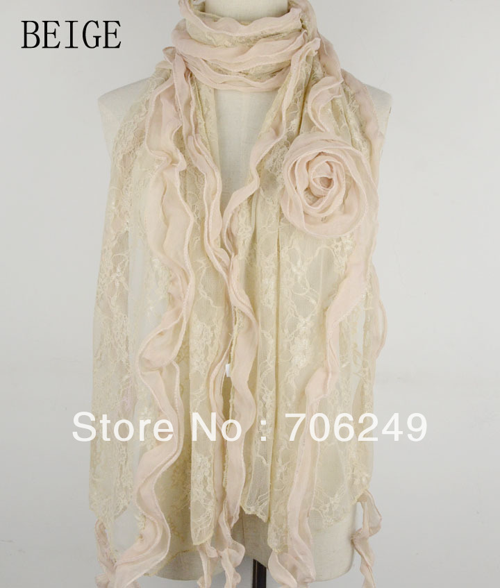 ,lace scarf,Spring&Summer scarf,patchwork shawl,ladies scarf,fashion shawl,2013 new design,sizeis 38*180cm - ELLEN FASHION ACCESSORIES store