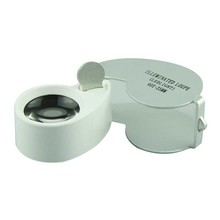 Delicate 40 X 25mm Glass Lens Jeweler Loupe Magnifier with LED Light Hot Selling
