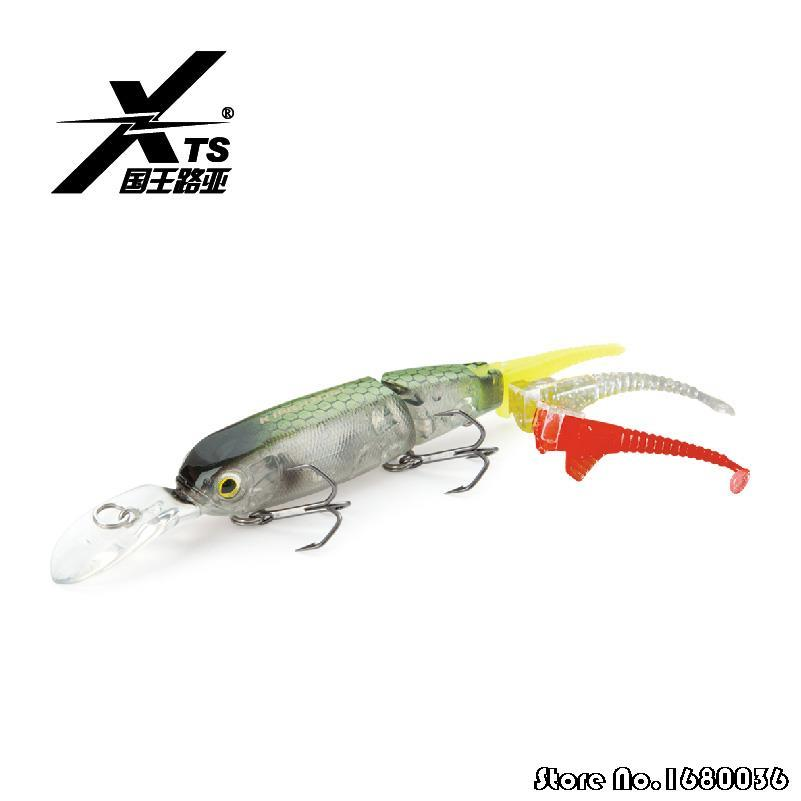2015 minnow fishing lure 2 section fishing for Hard and soft fishing