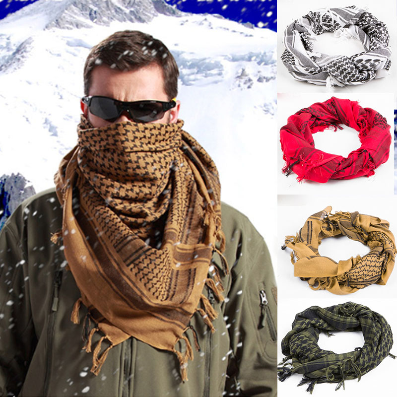 100% Cotton Thick Muslim Hijab Shemagh Tactical Desert Arabic Scarf Arab Scarves Men Winter Military Windproof Scarf(China (Mainland))