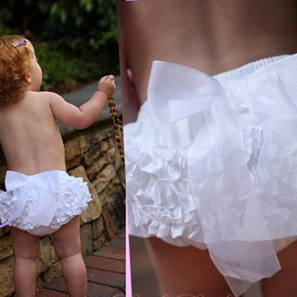 Princess Baby Girls Cute Bloomers Ruffle PP Pants Shorts Bow Diaper Nappy Cover<br><br>Aliexpress
