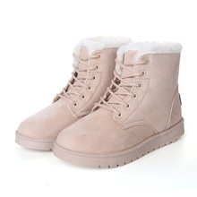 Discount shoes package mailed the new winter 2016 warm snowshoes Martin boots shoes flat non-slip shock absorption cotton boots(China (Mainland))
