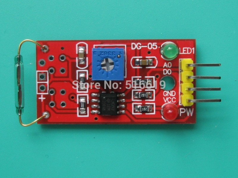 Free shipping Reed sensor module Magnetron module. Reed switch. The magnetic switch(China (Mainland))