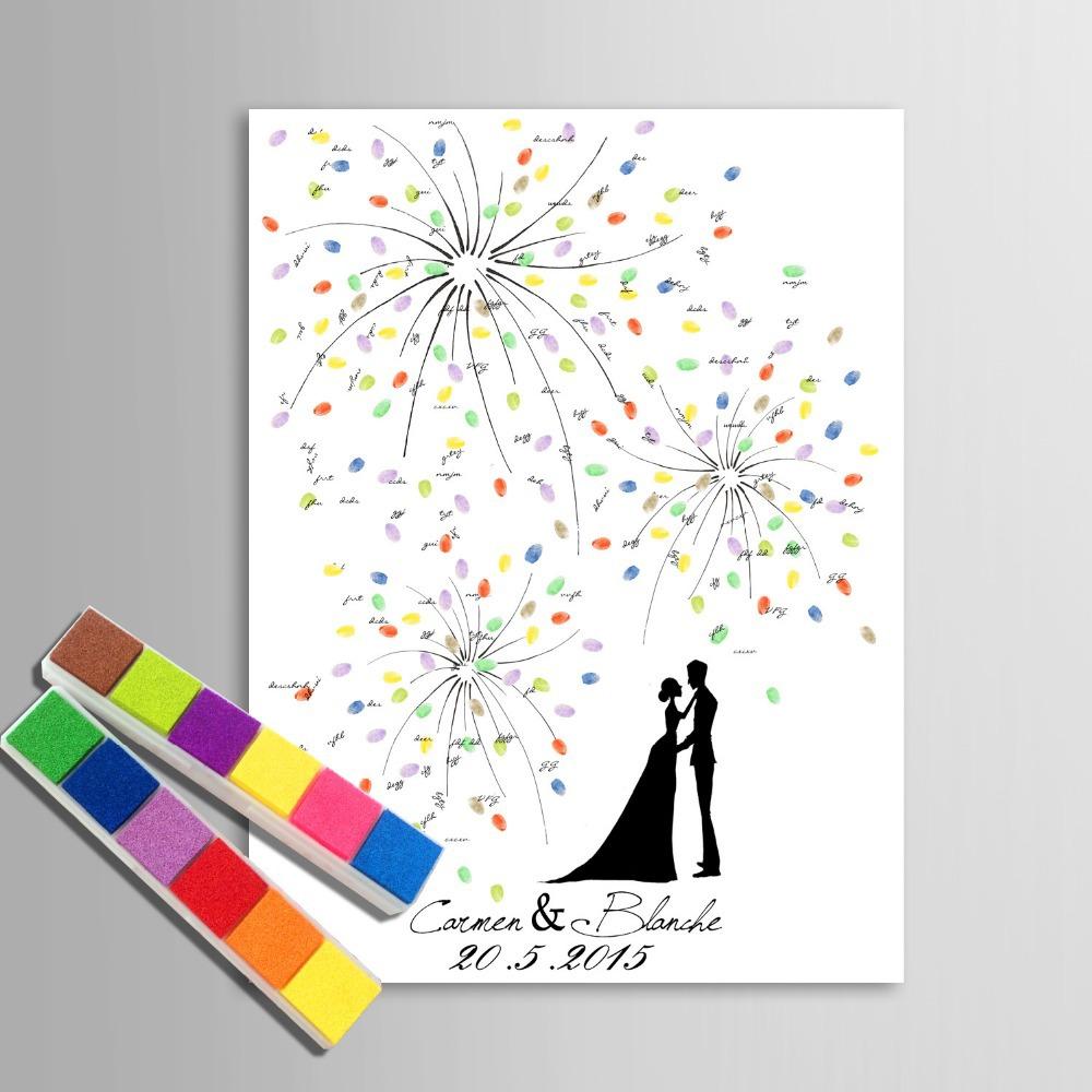 Шаблоны для отпечатков пальцев на свадьбу