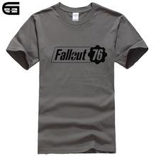 Jogo Fallout 76 T shirt dos homens Casual Verão de Manga Curta 100% Algodão T shirts Tops Tees T-shirt de Alta Qualidade T267(China)