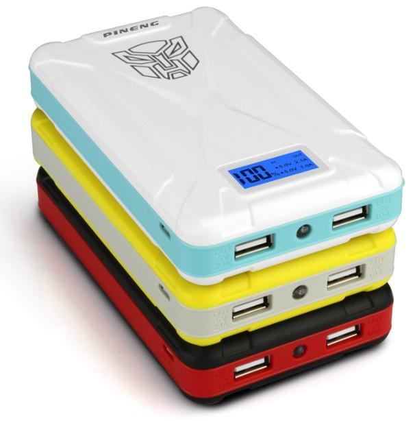 Original Pineng PN-933 10000mAh Portable Power Bank External Battery Backup Charger Powers With Digital Screen Dual USB Output(China (Mainland))