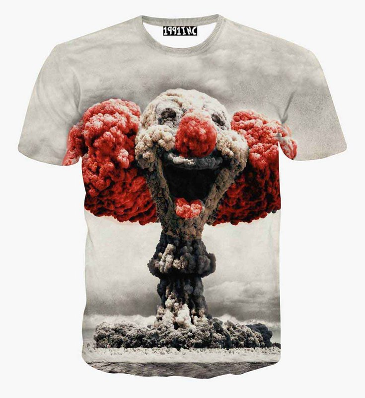 Alisister Explosion Atomic Bomb Printed 3D T-shirt for women/men harajuku Punk 3D Short Sleeve Tee Shirt Summer T-Shirts(China (Mainland))