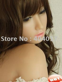 Wholesale freeshipping  Men's Sexy Real Japan Girl Inflatable Semi-solid Silicone sex doll /love doll/1pcs