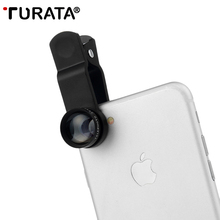 Buy TURATA 4 1 HD Phone Camera Lens 2X Teleport 180 Degree Fisheye Lens +0.67X Wide Angle+10X Macro Lens Clip-on Smartphone for $9.87 in AliExpress store