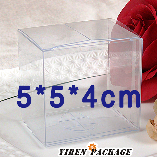 5*5*4cm clear box with protective flim / clear PVC / gifts and crafts / plastic box / macaron boxes / display cases(China (Mainland))