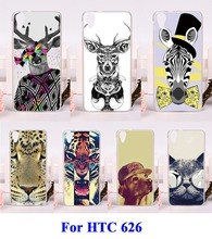 Hard Plastic&Soft TPU Cell Phone Accessories Parts For HTC Desire 626 626w 626D Cases Animal Painted Mobile Phone Skin Cover