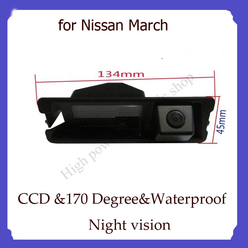 wireless camera CCD HD Special Car Rear View Reverse backup Camera night vision for Nissan March car parking camera(China (Mainland))