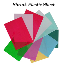 5pcs DIY Magic Shrink Plastic Sheet Paper Clear Film Red Yellow Blue Black Color Educational Toys Creative Ability Development(China (Mainland))