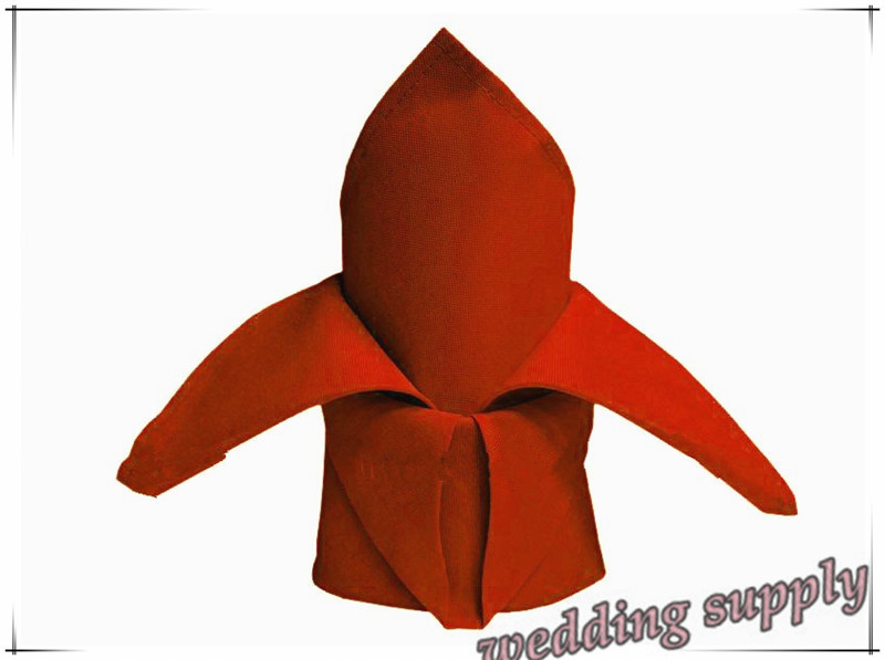 100% Polyester Red Table Napkin Linen Napkins For Wedding Festival Event Party(China (Mainland))