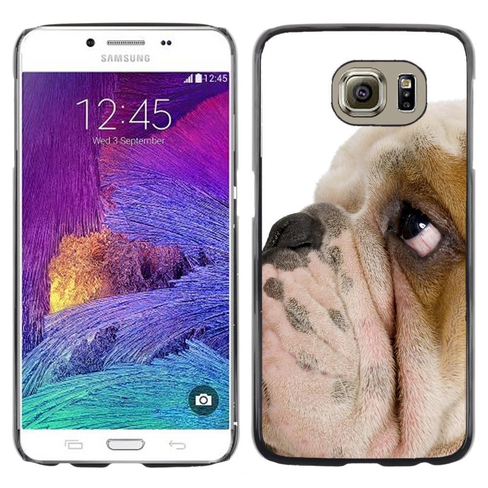Snap On Hard PC Back Shell Case For Samsung Galaxy S6 SM-G920-English Bulldog British Breed Dog Puppy(S6-3005529)(China (Mainland))