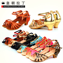 Special children's Latin dance and dance shoes adult leopard soft bottom shoes Latin shoes(China (Mainland))