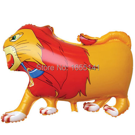 wholesale 50pcs/lot foil Balloon Lion Balloons Lion helium balloons Yellow for baby boy party decoration(China (Mainland))