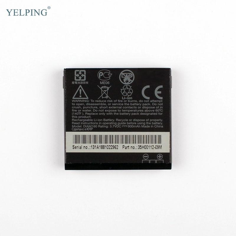 Yelping DIAM160 Replacement Battery For HTC Diamond P3700 P3702 S900 New Phone Batteries 900mAh(China (Mainland))
