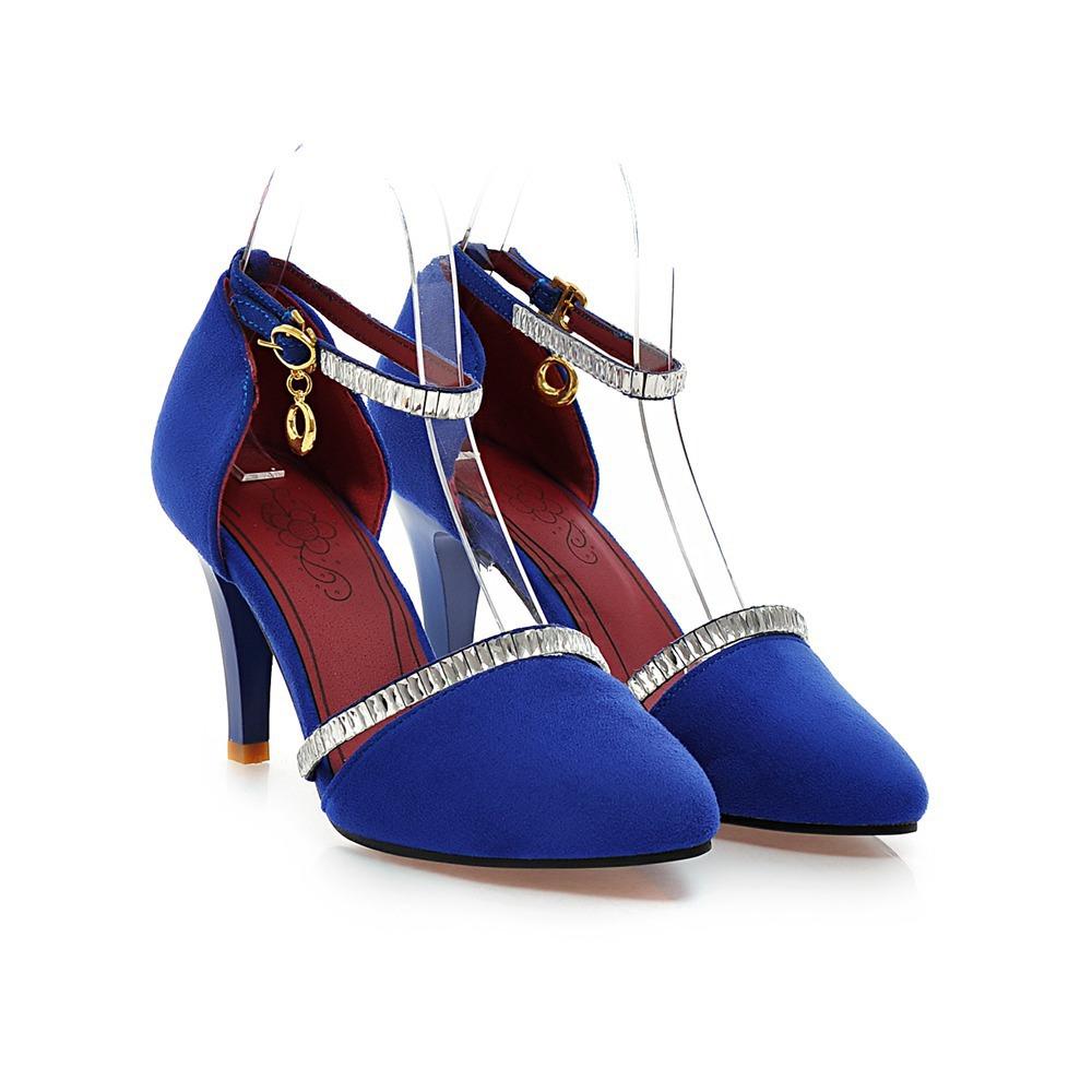 Blue And Black High Heels