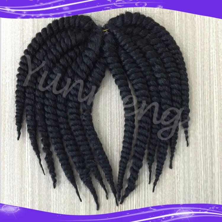 Havana Mambo Twist Crochet Braid Hair Synthetic Ombre Kanekalon Kinky Marley Twists Braiding Hair Extension05