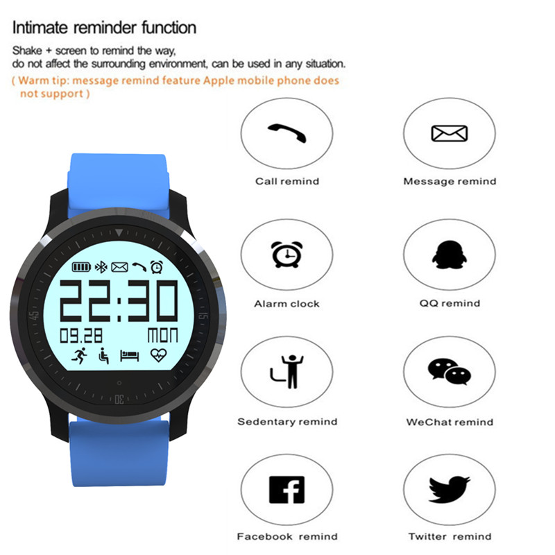 Bluetooth Smart Watches Reloj F68 IP67 Waterproof WristWatch Support Heart rate Tracker Smartwatch For Android Phone
