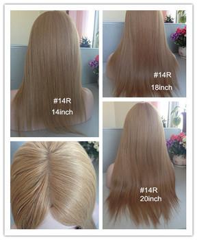 Фондовой еврейского парик 130% плотность волос еврейский парик на складе большой слой все волосы одной длины шелковый топ 4 дюймов х 4 дюймов в на складе