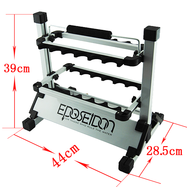 KastKing NEW Portable Fishing Rod Pole Holder Aluminum 12-rod Fishing Rod Rack Stand(China (Mainland))