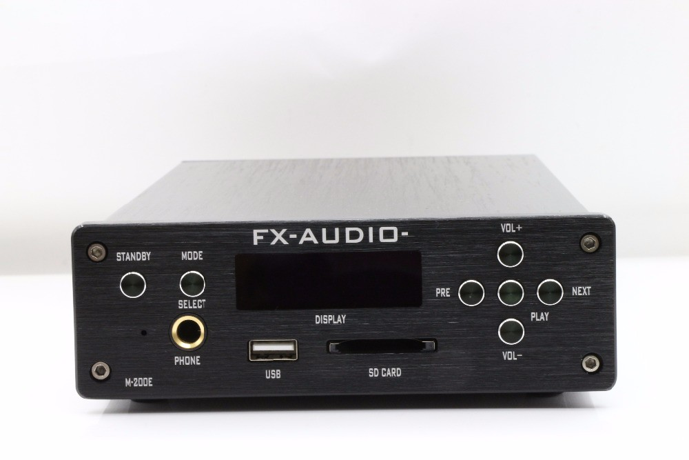 FX-AUDIO M-200E HiFi 2.0 Digital Audio Bluetooth Headphone Amplifier 120W*2 Input USB/SD/RCA/FLAC 24Bit/192KHz AC110-220V OLED