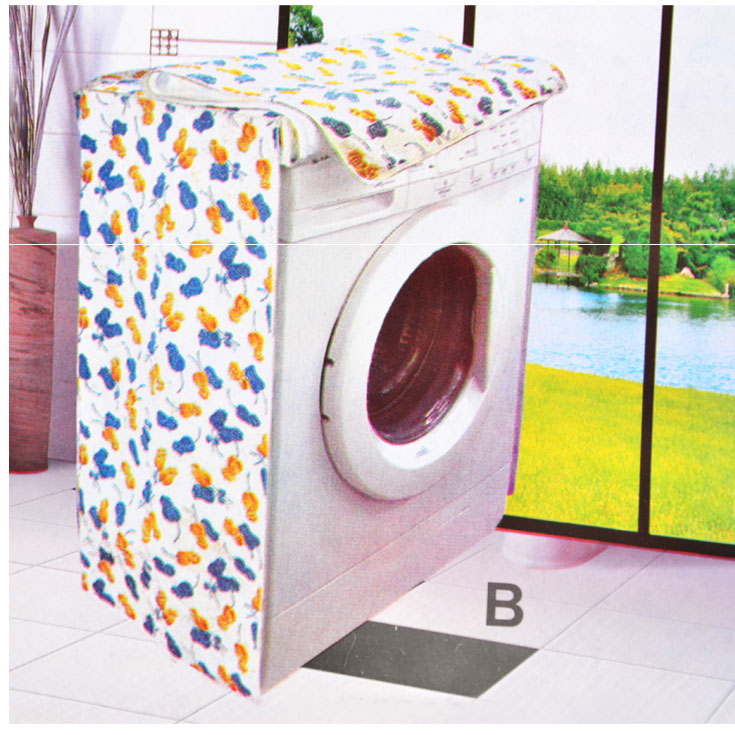 2016 Washing Machine Zippered Dust Cover Sunscreen Enclosures Flower Pattern Thicker Waterproof Durable IA313 P30(China (Mainland))