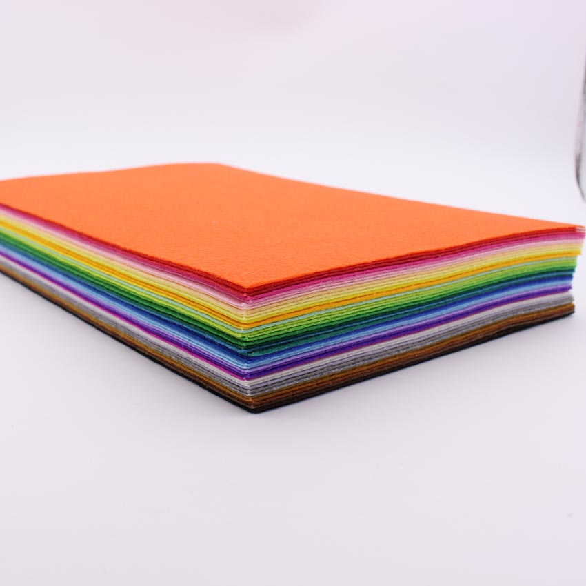 CHEAP!43Piece/lot 30CM*20CM Polyester Nonwoven Felt Fabric, DIY Fabric Pack,non-woven felt ,fabric cloth TOYS fabrics - C&M store