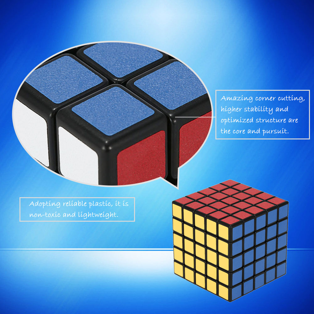 High Quality Magic Cube Speed Cube ABS 5 * 5 * 5 Magic Cube Ultra-smooth Cubo Puzzle Matte Sticker Twist Educational Kids Toy(China (Mainland))