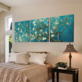 3 piece flower famous artist canvas wall art white blue decorative abstract canvas prints van gogh