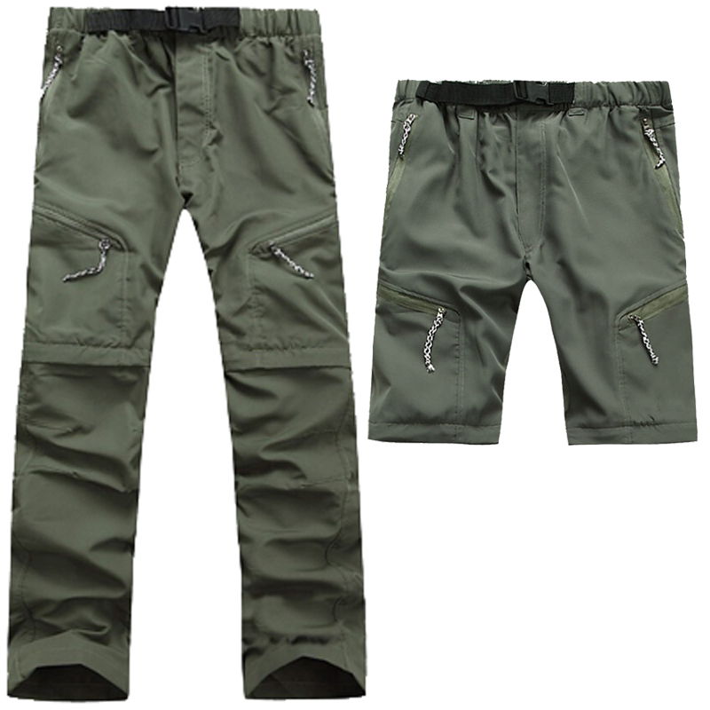 2016 Brand Men Quick Dry Hiking Pants Spring Summer Outdoor Man Removable Fishing trousers Uv Protection Camping Shorts, NA060