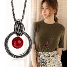 Buy 2016 New Sweater Necklaces Circles Simulated Pearl Ball Pendant Long Necklace Women Chain Fashion Jewelry KQS for $1.82 in AliExpress store
